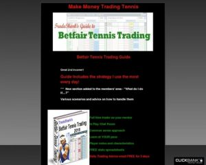 Make Money Online Trading Tennis. Low Risk Proven Methods
