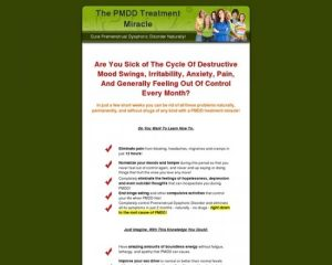 The Pmdd Treatment Miracle – Unique And Huge Niche!