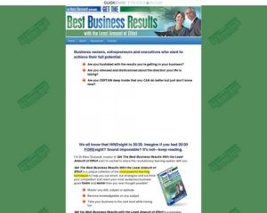 Get The Best Business Results With The Least Amount Of Effort