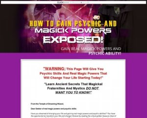 How To Get Psychic & Magick Powers – 3% Sales Conversion Rates!