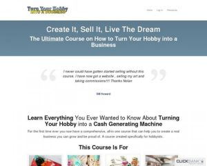 Turn Your Hobby Into A Business Course