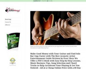 Acoustic Guitar Money: Make Good Money Playing Guitar!