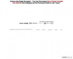 100% Com ~ New Foot Heel Pain / Plantar Fasciitis Offer ~ $93 Per Sale