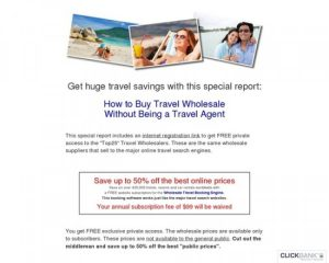 How To Buy Travel Wholesale Without Being A Travel Agent- $9.97 Report