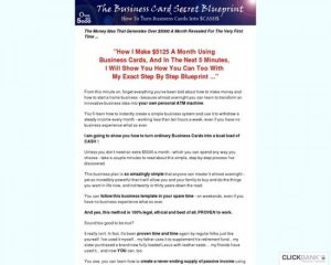 New Product ~ How To Turn Business Cards Into Cash