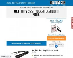 Free Hybeam Tactical Flashlight Converts 14.49 Percent – Survival Life