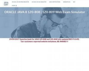 Oracle Java 1z0-808 Web Exam Simulator