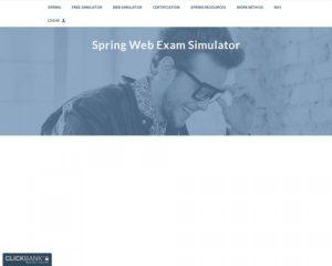 Spring Core Certification Web Simulator