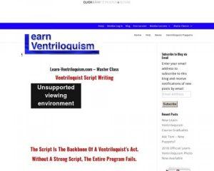 Ventriloquist Script Writing Course
