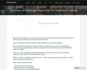 Programmer Education: Business, Entrepreneurship Course For Engineers