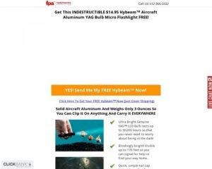 Hybeam Micro Military Flashlight Free – Accepts International Traffic