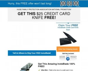 Free Credit Card Knife Offer Converts 13.3 Percent – Survival Life