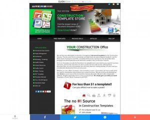 Construction Template Store