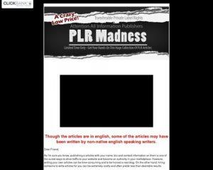 PLR Madness