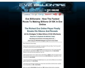 Eve Online Billionaire Isk Guide